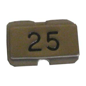 Stainless steel name plate engraved 25