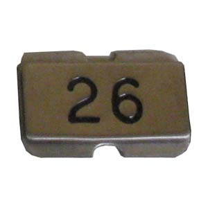 Stainless steel name plate engraved 26