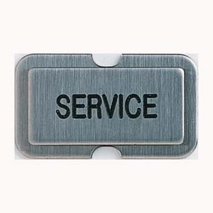 Stainless steel name plate stamped SERVICE