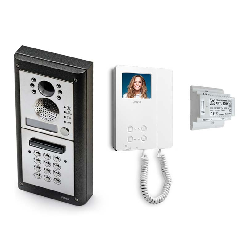 Videx - 1 Way 4000 Series Surface Video Entry Kit with Keypad