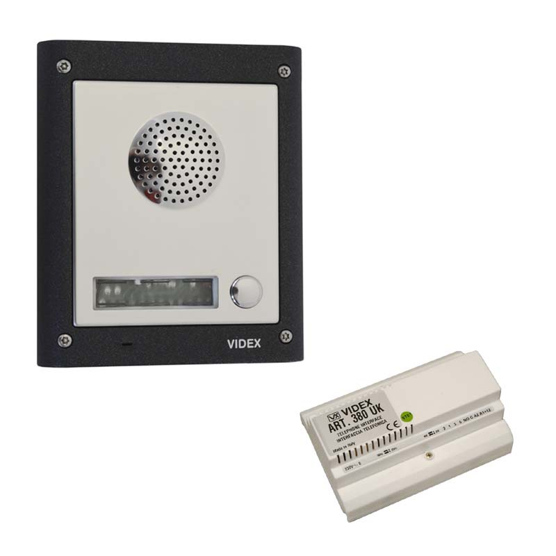 Videx - 1 Way Audio Surface Kit With Telephone Interface