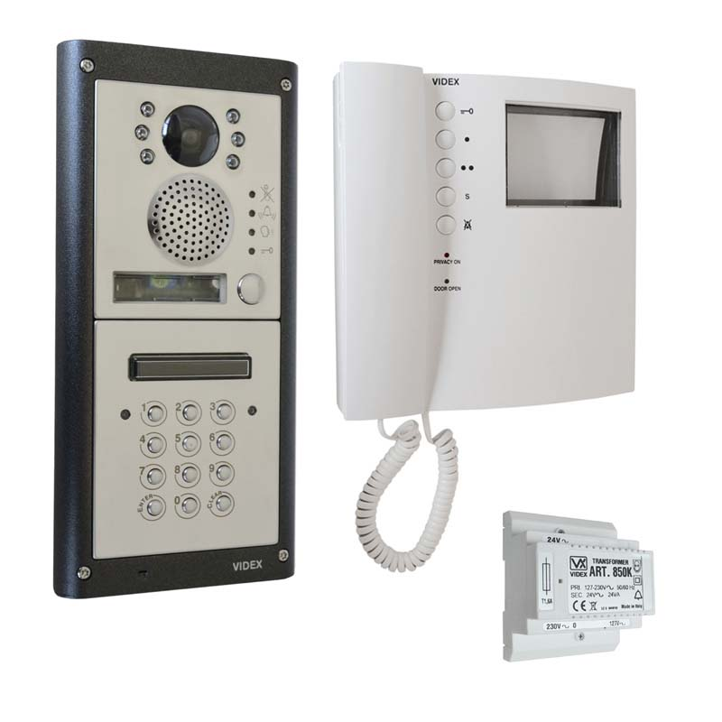 Videx - 1 Way 4000 Series Flush Mono Video Kit with Keypad
