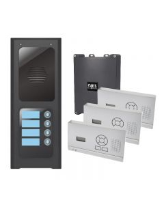 AES Wireless 4 button assembled modular unit with hands-free handset