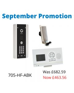 AES 705-HF-ABK One-way wireless video kit with built-in keypad and a hands-free Monitor