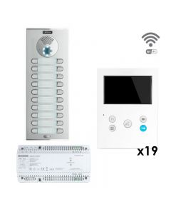 Fermax DSV-19/XSW nineteen-way DUOX PLUS Skyline surface kit with VEO XS Wi-Fi monitor