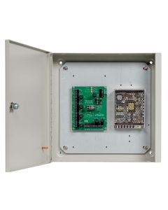 GDX 129/02 4-Way Distribution Unit, 3 Amp PSU & Timeclock in Metal Case for access control.