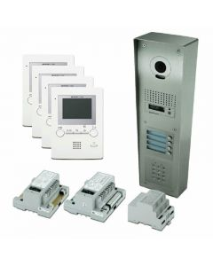 Aiphone 4-Way Surface Video Kit with Keypad for GT Series