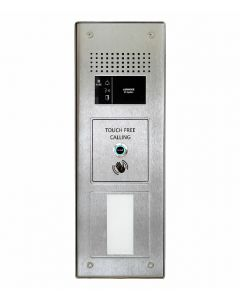 Aiphone GTN-1A/F/SS+CPROX/WAVE 1-Button, Touch-free, Stainless-Steel, Vandal-Resistant Audio Panel with Prox Cut-Out for door entry.