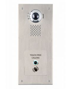 Aiphone IV-DV/S/SS/WAVE 1-Button, Touch-free, Stainless-Steel, Vandal-Resistant IP Video Panel for door entry.