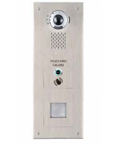 Aiphone IX-DV/S/SS/WAVE 1-Button, Touch-free, Stainless-Steel, Vandal-Resistant IP Video Panel with Prox Cut-Out for door entry.