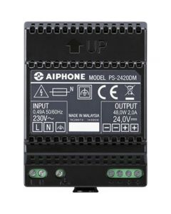 Aiphone PS-2420DM Power Supply Unit (24V, 2A) for door entry systems.