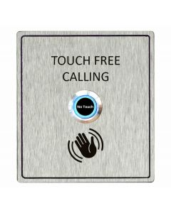 Aiphone S1/WAVE_COMPLETE Touch-free Button Module to fit Stainless-Steel Panels for door entry.