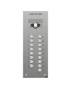 Bticino VB4517 | 17 Button VR S.Steel Engravable Video Panel