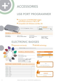 Intratone 08-010 range of fobs data sheet