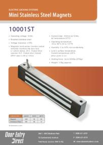 10001-ST Mini Stainless Steel Magnets Brochure