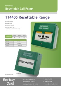 114405 Resettable Call Point Brochure