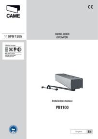 CAME-001PB1100 Door Operator Installation Instructions