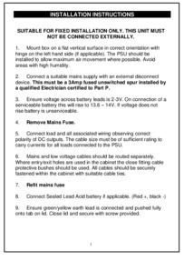 RGL instructions for PSU Art. 1202SM-1