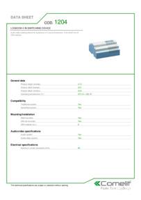 Comelit 1204 data sheet