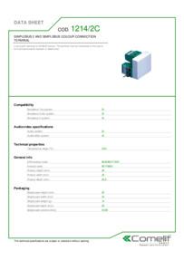 Comelit 1214/2C data sheet