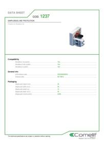Comelit 1237 data sheet