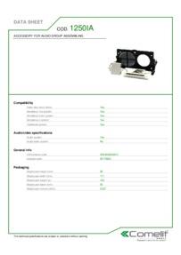 Comelit 1250IA data sheet