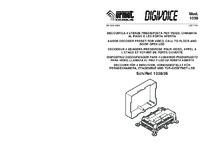 Urmet 1038/35 installation manual