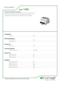 Comelit 1456 data sheet