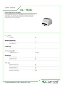Comelit 1456S data sheet