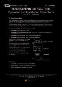 PAC 20365/6/7/8/9 Installation manual