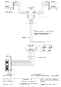 1 X 1 BUTTON VZF VIDEO ENTRY PANEL & 2 VM100 MONITORS