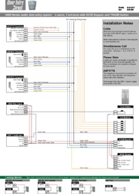 SRS audio installation diagram.  n way, 1 entrance with DC50 keypad, and TRADE button