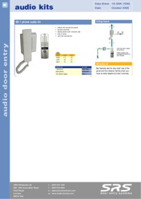 SD720 Audio door entry kits - leaflet