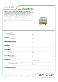 Comelit 20004900 data sheet