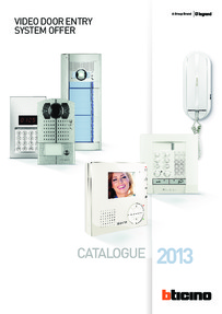 Bticino 2013 Catalogue