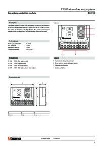 Bticino Expander module technical data