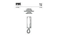 Urmet 1130/1 installation manual