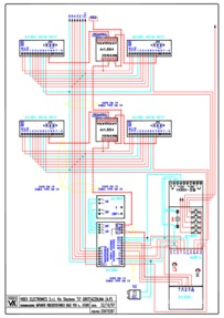 Videx Video (coax) system - 1 entrance, n button panel (837/2 + 845 + 830) calling n monitors (901)