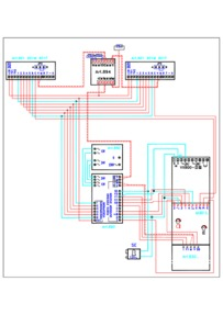 Videx Video (coax) system - 1 entrance, 2 button panel (837/2 + 830 + VX800 code lock) calling 2 monitors (901)