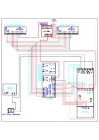 Videx Video (coax) system - 1 entrance, 2 button panel (837/2 + 830 + VX800 code lock) calling 2 monitors (901).  Failsafe release