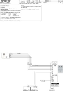 SD 3000 series (1 way) video wiring diagram with VR panel and built in DC40 keypad
