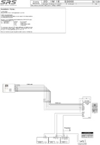 SD 3000 series (1 way) video wiring diagram with VR panel