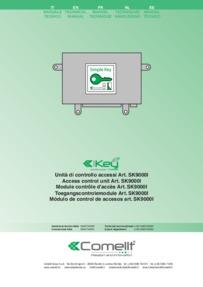 Comelit instructions for access control unit Art. SK9000I