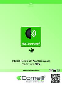 Intercall Remote VIP App User Manual