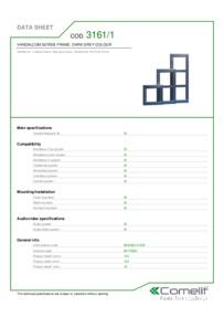 Comelit 3161/1 data sheet