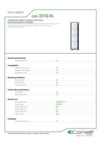 Comelit 3316/4L data sheet