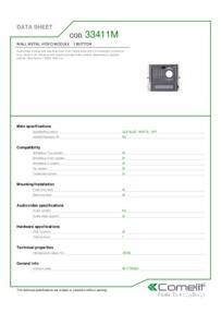 Comelit 33411M data sheet