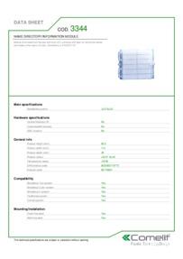 Comelit 3344 data sheet