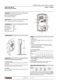 Bticino brochure for Linea 2000