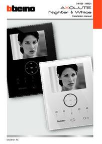 Bticino installation manual for 349320 & 349321
